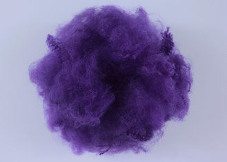 6D*65MM Purple Recycled Pet Fiber , Pet Staple Fiber Good Elasticity Anti - Static